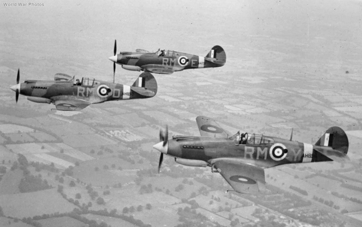 Tomahawks of No. 26 Squadron RAF over England