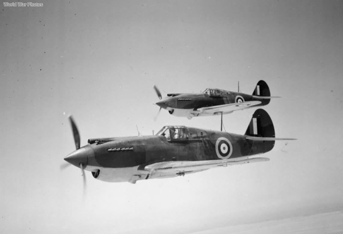 Tomahawks Mk IIB in flight