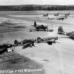 P-39, P-43 Lancer 41-31468, P-40 Warhawk 41-36475, A-20 41-19109 and B-25 Mitchell 41-12736 1941