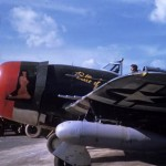 P-47 Thunderbolt Belle of Belmont of the 56th Fighter Group – color photo