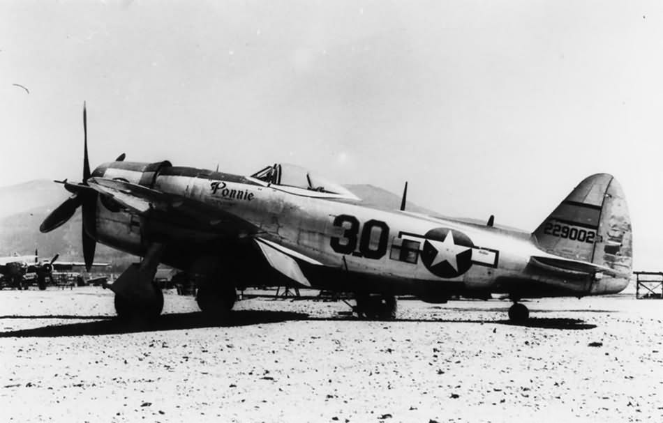 """P-47D Thunderbolt #30 42-29002 """"Ponnie"""" of the 57th Fighter Group"""