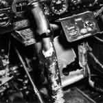 cockpit and control stick of a P-47 Thunderbolt