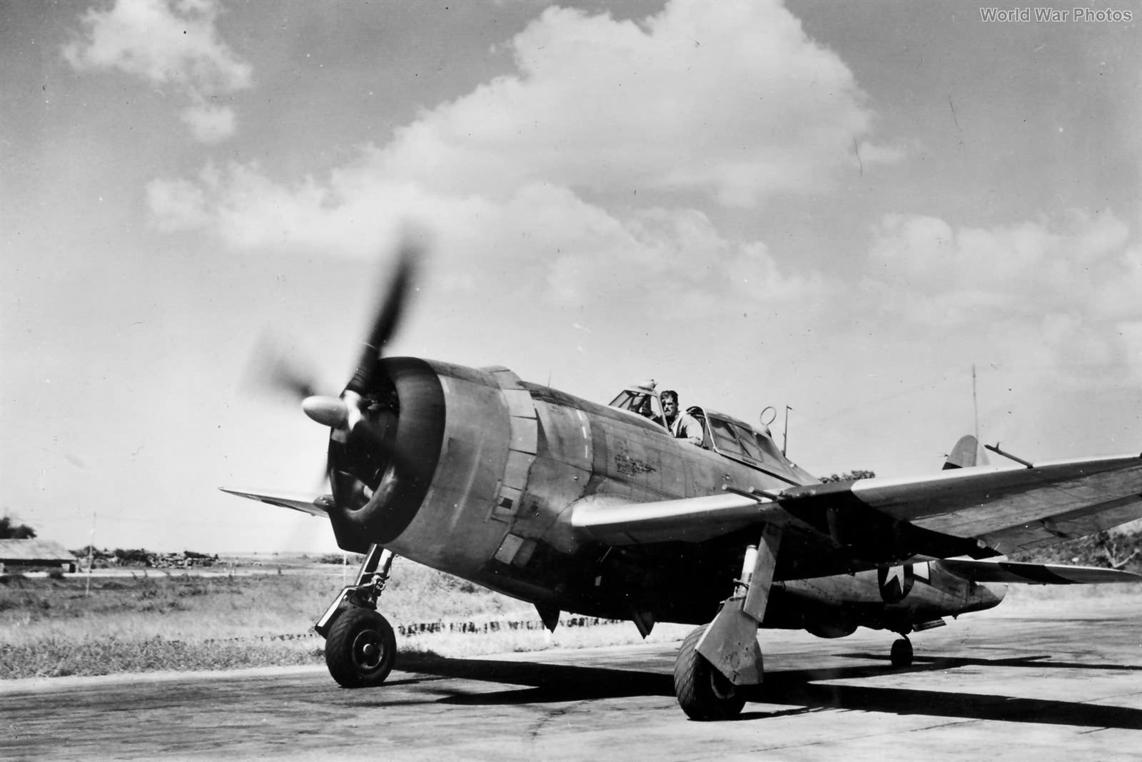 Lt LF Mullins 1st Air Commando P-47 at Asansol India in 1944