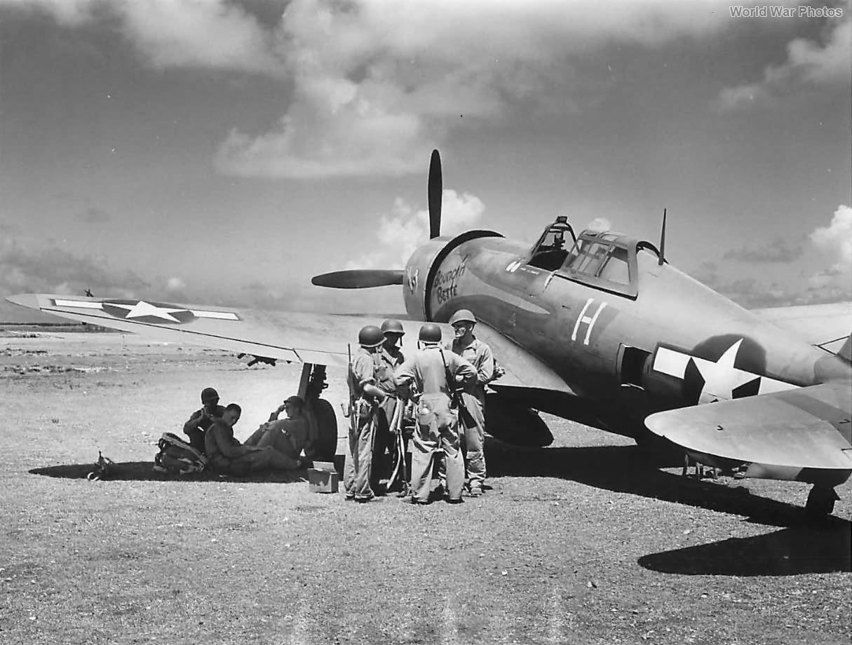 Lt Albert Schaffle P-47 Bouncin Bette 19th FS 318th FG Saipan