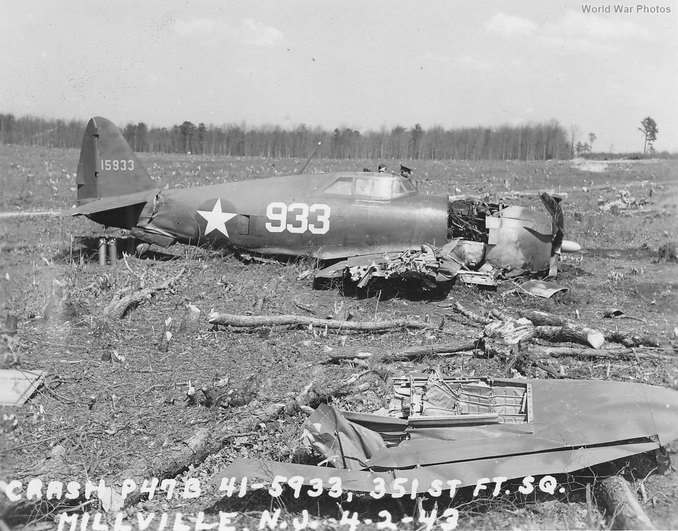 P-47B 351st Fighter Squadron April 1943