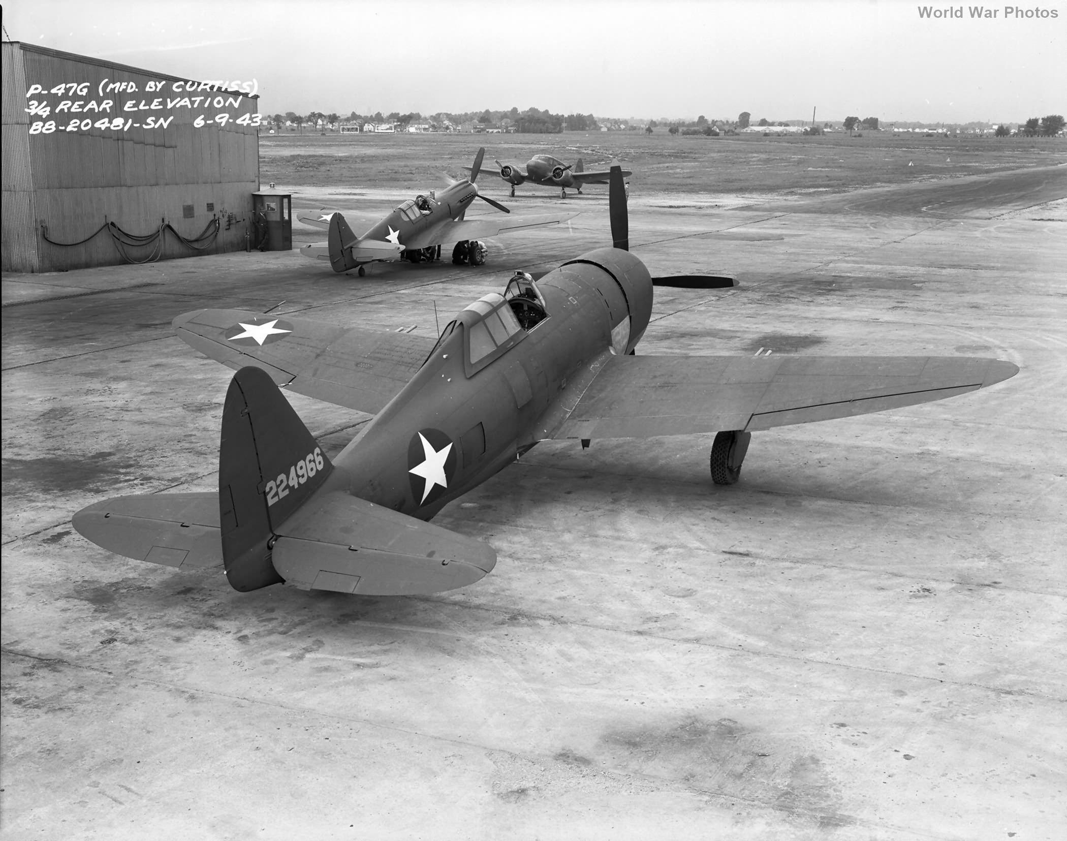 P-47G P-40 Cessna Bamboo Bomber