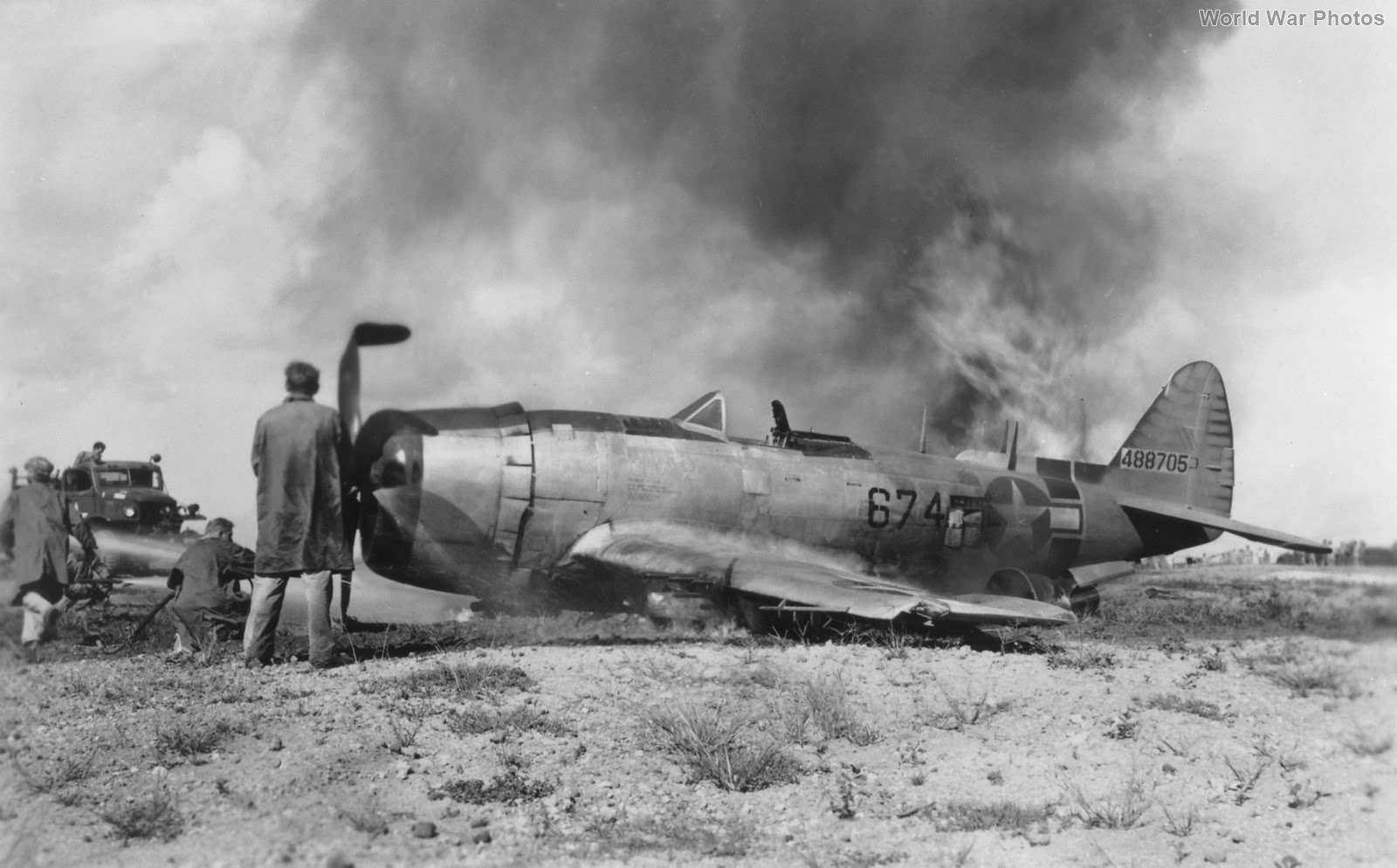 P-47N 413th FS Central Field Iwo Jima 7sep45