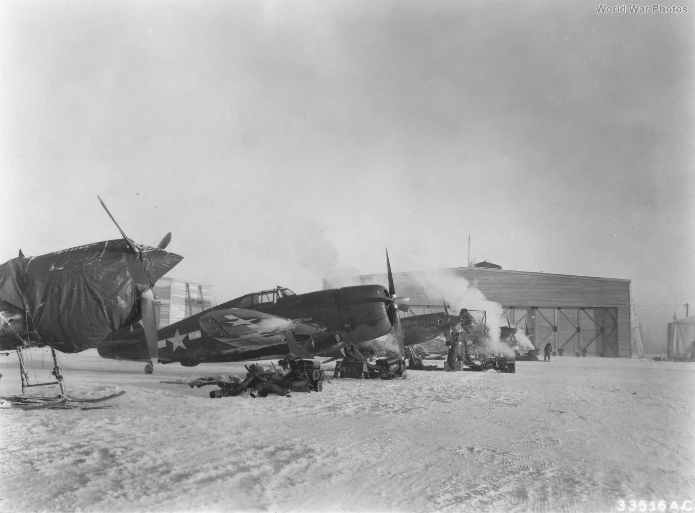 P-47 Ski-tests at Ladd Field 1944