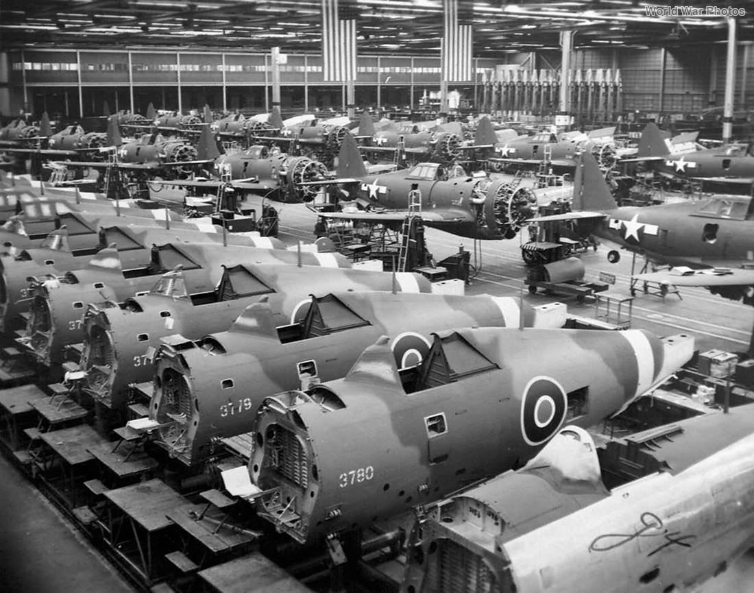 RAF Thunderbolts assembly line