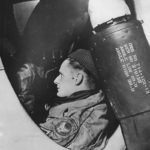 9th AF Flight Chief in Nose of P-47