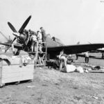 Assembling P-47 at Sydenham Airport Belfast jul43