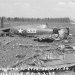 Crashed P-47B 41-5933 of 351st Fighter Squadron April 1943