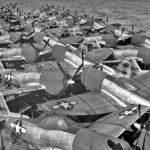 P-47N on the flight deck of USS Casablanca 16 July 1945