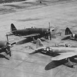 P-47 at Farmingdale Painted with Insignia of 4 Nations 42-26850 42-26781 42-27028