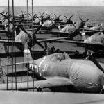 P-47s bound for Eniwetok aboard USS Manilla Bay 13th June 1944