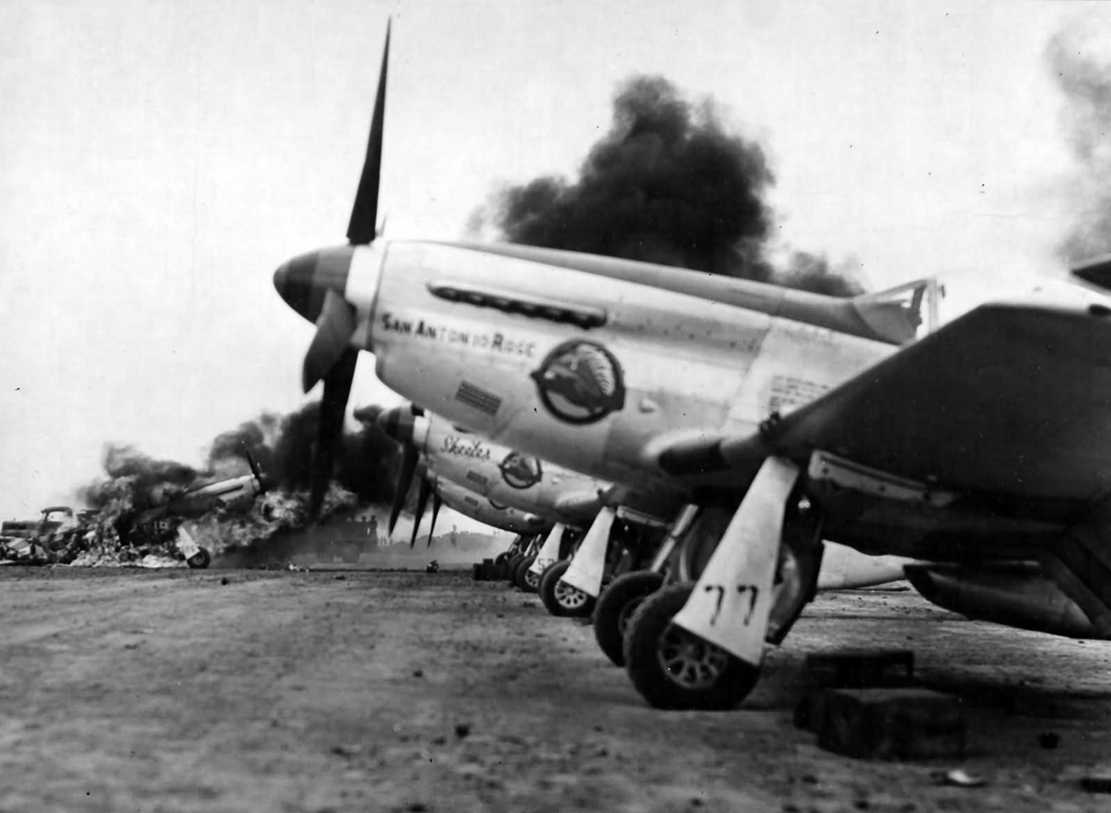 "P-51D ""San Antonio Rose"", pilot 1lt Douglas Reese of the ..."