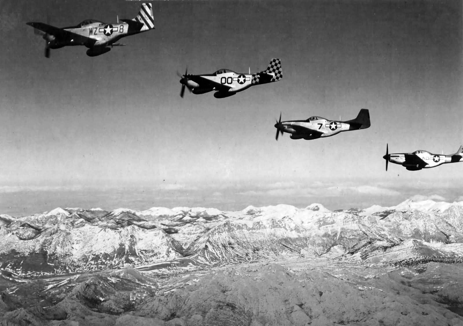 P-51 Mustangs Over Yugoslavia
