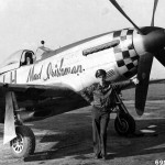 "2lt Gerald Devine of the 350th FS 353rd FG and P-51D Mustang 44-14673 Code LH-I ""Mad Irishman"""