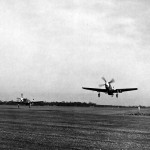 354th FG P-51B Mustangs Taking Off England