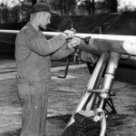 Armorer Cleans The 0,50 Caliber Machine Guns of the P-51B