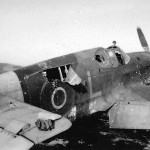 Battle Damage To An RAF P-51 Mustang