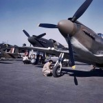 British P-51 Mustang FD553 Color Photo