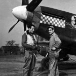 Capt Donald Gentile of the 336th FS 4th Fighter Group And P-51B Mustang 43-6913 named Shangri La