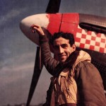"Capt Donald Gentile of the 336th FS 4th FG With His P-51B 43-6913 ""Shangri La"""