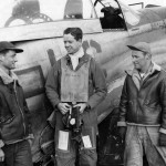 Capt James H Herbert of the 77th FS 20th FG With His Ground Crew