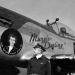 "Capt Robert Barnhart of the 360th FS 356th Fighter Group and P-51D Mustang 44-15189 ""Margie Darling"" Code PI-B"