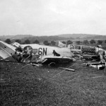 Destroyed P-51 Mustang code 6N-C of the 505th FS 339th Fighter Group