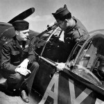 F-6A Mustang (Malcolm Hood) and LtCol George Peck Commander of the 67th Tactical Reconnaissance Group
