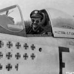 Lt Col Glenn Eagleston Pilot of the 354th Fighter Group In The Cockpit Of His P-51 Ober Olm Germany 17 April 1945