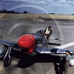 Lt William Groseclose of the 335th FS 4th Fighter Group P-51D Mustang 44-14431 Coded WD Q, color photo