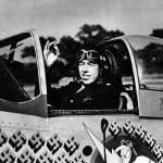 "LtCol John C Meyer Commander of the 487th FS 352nd FG In The Cockpit Of P-51D 44-14151 named ""Petie 2nd"", code HO-M"