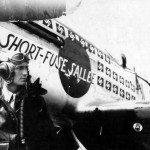 "Maj Richard Turner of the 356th FS 354th Fighter Group and P-51D Mustang 44-15522 ""Short Fuse Sallee"" Code AJ-T"