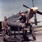 P-51B Mustang England Color Photo