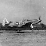"F-6C Mustang 42-103578 ""Val Gal II"" code NJ of the 111th TRS Is Flown By Lt Stanley F Fierstein"
