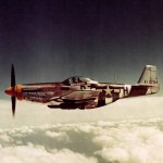 "P-51D-5-NA Mustang 44-13704 ""Ferocious Frankie"" B7-H of the 374th FS 361st Fighter Group July 1944 – color photo"