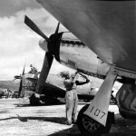 P-51D Mustang 107 of the 78th FS 47th FS 15th FG Saipan February 1945