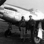 "Pilot Capt James Fowle of the 384th FS 364th Fighter Group and P-51D ""Terry Claire"" serial 44-14184 Code 5Y-Q"