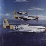 P-51D Mustang of the 52nd Fighter Group 4th Fighter Squadron, color photo