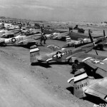 P-51D Mustangs 330, 320, 311, 303, 321, 306, 308 of the 531st Fighter Squadron 21st FG Iwo Jima Spring 1945