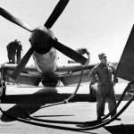P-51D Mustang of the 15th Fighter Group Refueling Iwo Jima 1945