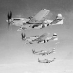 "P-51 Mustang ""Dee"" In Formation 503rd FS 339th Fighter Group"
