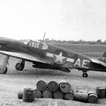 "P-51 Mustang 41-37368 ""Pat"" code AE of the 111th TRS On Italian Airfield 1943"