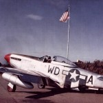 P-51 Mustang WD-A of the 335th FS 4th Fighter Group Pilot Lt Berry, Color photo