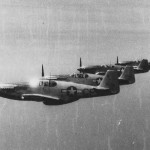P-51 Mustangs of the 111th TRS in flight during World War II