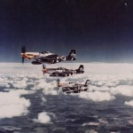 P-51 Mustangs of the 361st Fighter Group – color photo