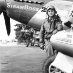"Pilot Col Mayden of the 352nd FG P-51D Mustang ""Straw Boss 2"" 44-14111 PE-X"